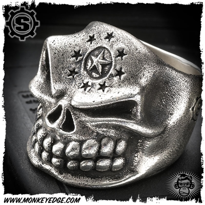 Starlingear Ring: Slickster Custom Stamped Circle Star and Star Ring