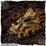 Starlingear Ring: Tentacle Puncher - Iron Takeuchi Engraved w/24k Gold