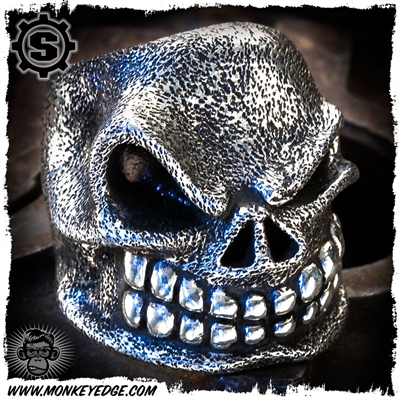 Starlingear Ring: Slickster Puncher - Silver Textured