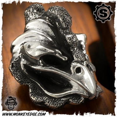 Starlingear Bead: Cock Textured - Silver