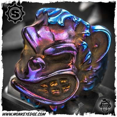 Starlingear Ring: Monkey Edge Puncher - Titanium Bronze/Purple