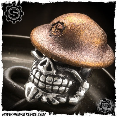 Starlingear Bead: Slickster Doughboy - Silver/Copper Textured