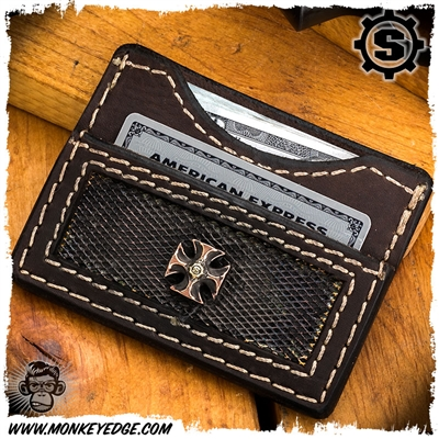 Starlingear Wallet: Maltese Cross - Copper/Brass