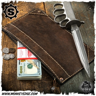 Starlingear Leather Bank Bag w/Plaid Lining