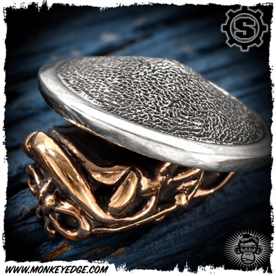 Starlingear Bead: Monkey Samurai - Copper/Silver Textured