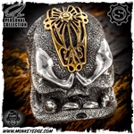 Starlingear Ring: Motherfucker Puncher - Silver w/Antique Bronze Mohawk Custom Ryk Personal Collection