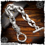 Starlingear Bracelet: Anchor/Flat Links w/Slickster - Silver
