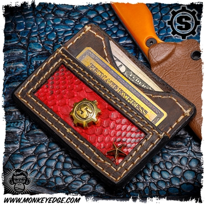 Starlingear Wallet: S-Gear - Brass w/Snakeskin