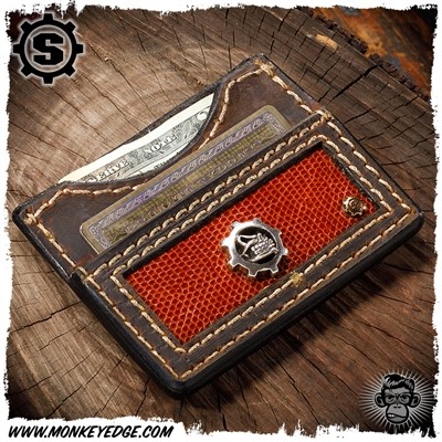 Starlingear Wallet: Slickster Gear - Silver w/Lizard