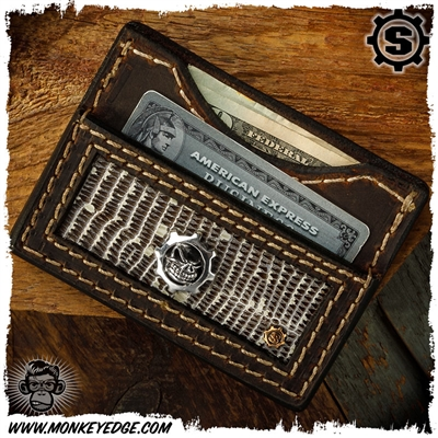 Starlingear Wallet: Slickster Gear - Silver/Copper w/Snakeskin