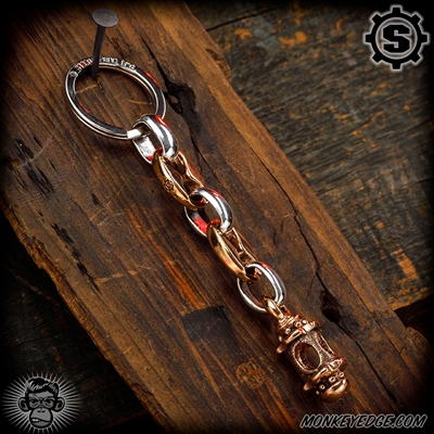Starlingear Key Ring: Lantern w/Anchor Links - Copper/Silver