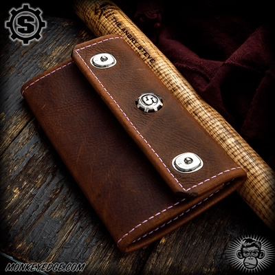 Starlingear Portfolio Wallet - Brown Leather + Kangaroo