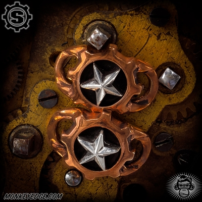 Starlingear Boot Lacers: Gear Logo w/Stars - Copper/Silver