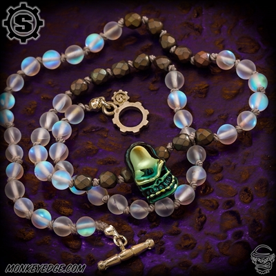 Starlingear Necklace: Vintage Line - Opal w/Glass Bruiser