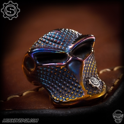 Starlingear Ring: Stealth Blade Checkered Styler II - Cobalt Custom Two-Tone Gold w/S-Gear