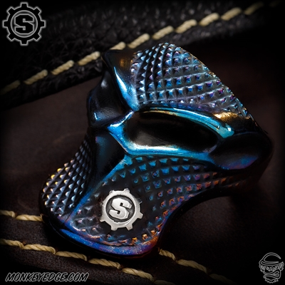 Starlingear Ring: Stealth Blade Checkered Puncher - Cobalt Custom Two-Tone Polished w/S-Gear