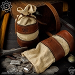 Starlingear Leather Bullion Bag: Vintage Style w/1800s Hemp
