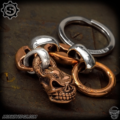 Starlingear Key Ring: Hot Head Slickster w/Anchor Links - Copper/Silver