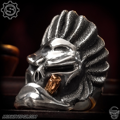 Starlingear Ring: Native Puncher - Silver w/Cigar