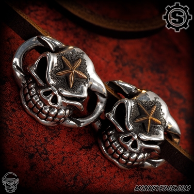 Starlingear Boot Lacers: Slickster - Silver w/Copper Stars (Set of 2)
