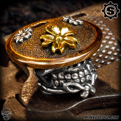 Starlingear Bead: Slickster Sakura Samurai - Silver/Copper/Brass
