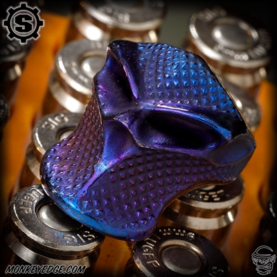 Starlingear Bead: Stealth Blade Checkered - Titanium Blue/Purple