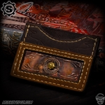 Starlingear Ryk Maverick Custom Wallet: Two Tone Embossed w/Brass S-Gear