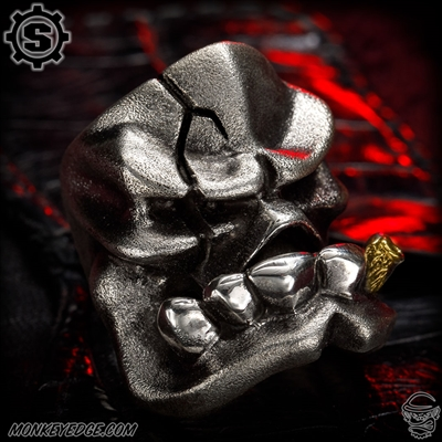 Starlingear Ring: Kamikaze Goon Puncher - Silver Textured w/Brass Cigar