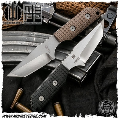 Strider Knives Fixed: DB Stonewashed - Monkey Edge FRAG Pattern (PSF-27)