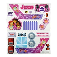 Jeep Wrangler Dora Stickers