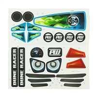 Dune Racer Blue Stickers