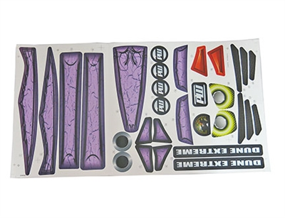 Dune Racer Purple Stickers