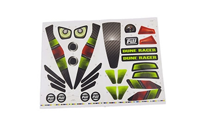 Dune Racer Green Stickers