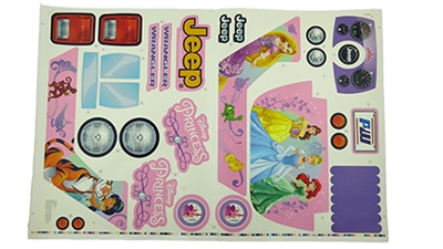 Jeep Wrangler Disney Princess Stickers