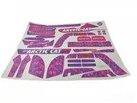 Arctic Cat Pink Stickers