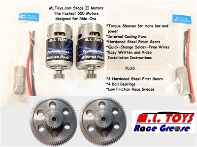 Stage II Speed Motors/Gearboxes for Jeep Hurricanes
