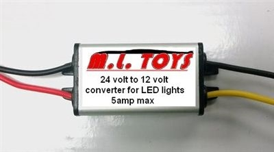Voltage Reducer for LED Lights on 18v or 24v Vehicles