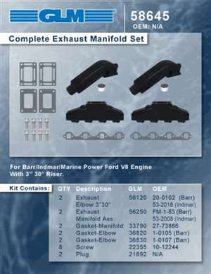 Barr Indmar Marine Power Manifold Kit