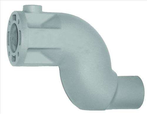 Crusader replacement exhaust elbow with quot outlet