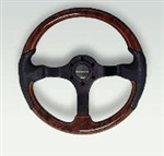 Soft Touch Grip Steering Wheel (Brown)