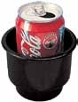 "3-1 4"" x 3-1 2"" Black Recessed Cup Holder"