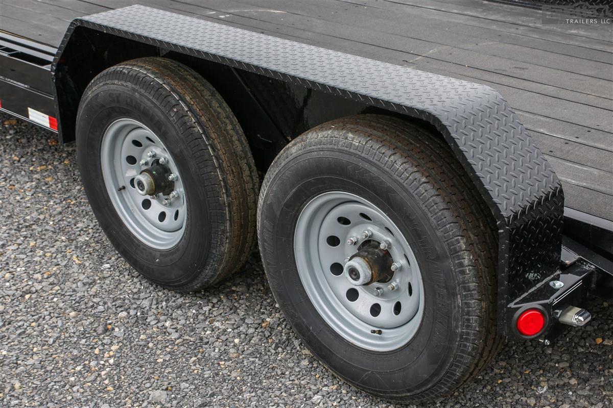 Pj Trailers Tandem Axle Steel Fender For 15 Trailer Wheels Fayette Trailers Llc