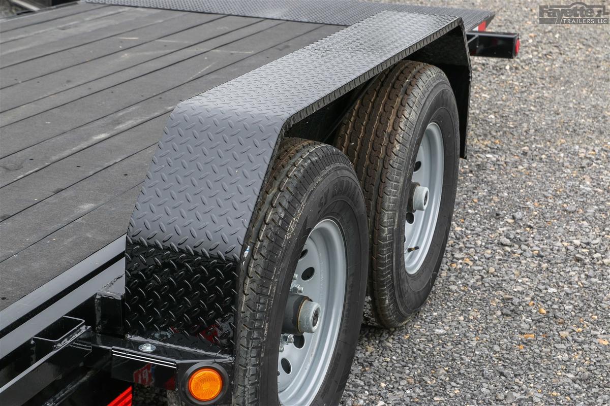 Tandem Trailer Fenders With Backs : Pj trailers tandem axle steel fender for quot trailer wheels