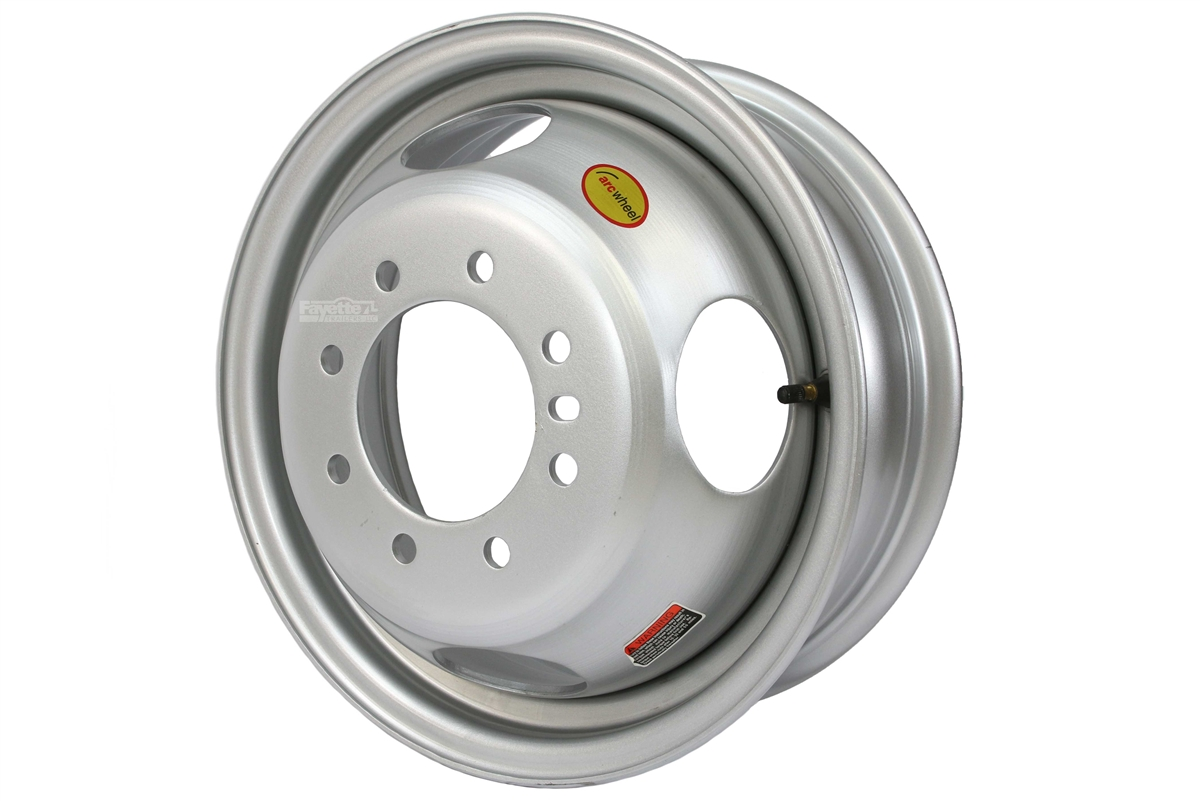 Equipment Trailer Rim Wheel 16 in 16X6 8 Hole Bolt Lug White Modular Design