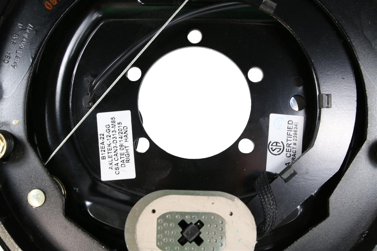 "RH 12/"" x 2/"" Rockwell Auto Adjust Electric Brake Assy 7k #4704-RA"