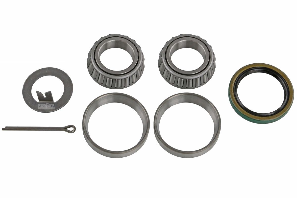 1 in. 2-Pack Trailer Wheel Hub Complete Kit Steel 4 Lug BT-8 2000 Lb