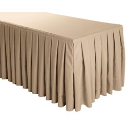 Box Pleat Polyester Table Skirts - 6 Foot Table (all sides covered) - 17 foot section