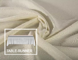 "Polyester Table Runner - 13"" X 108"" - 4 Runners/Packet"