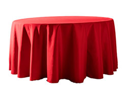 "Spun Polyester Tablecloth 120"" Round"