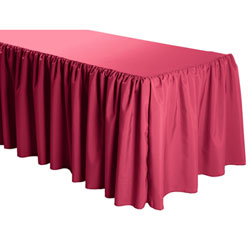 Shirred Polyester Table Skirts - 8 Foot Table (all sides covered) - 21 foot section